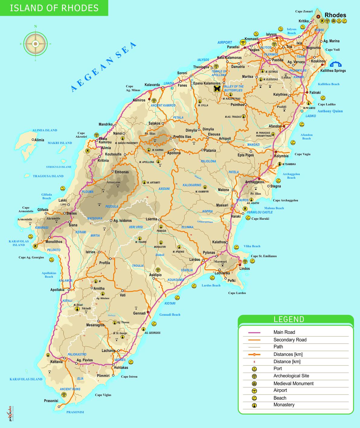 Isla De Rodas Mapa.Graikija Sala Kurioje Stovėjo Sestasis Pasaulio Stebuklas
