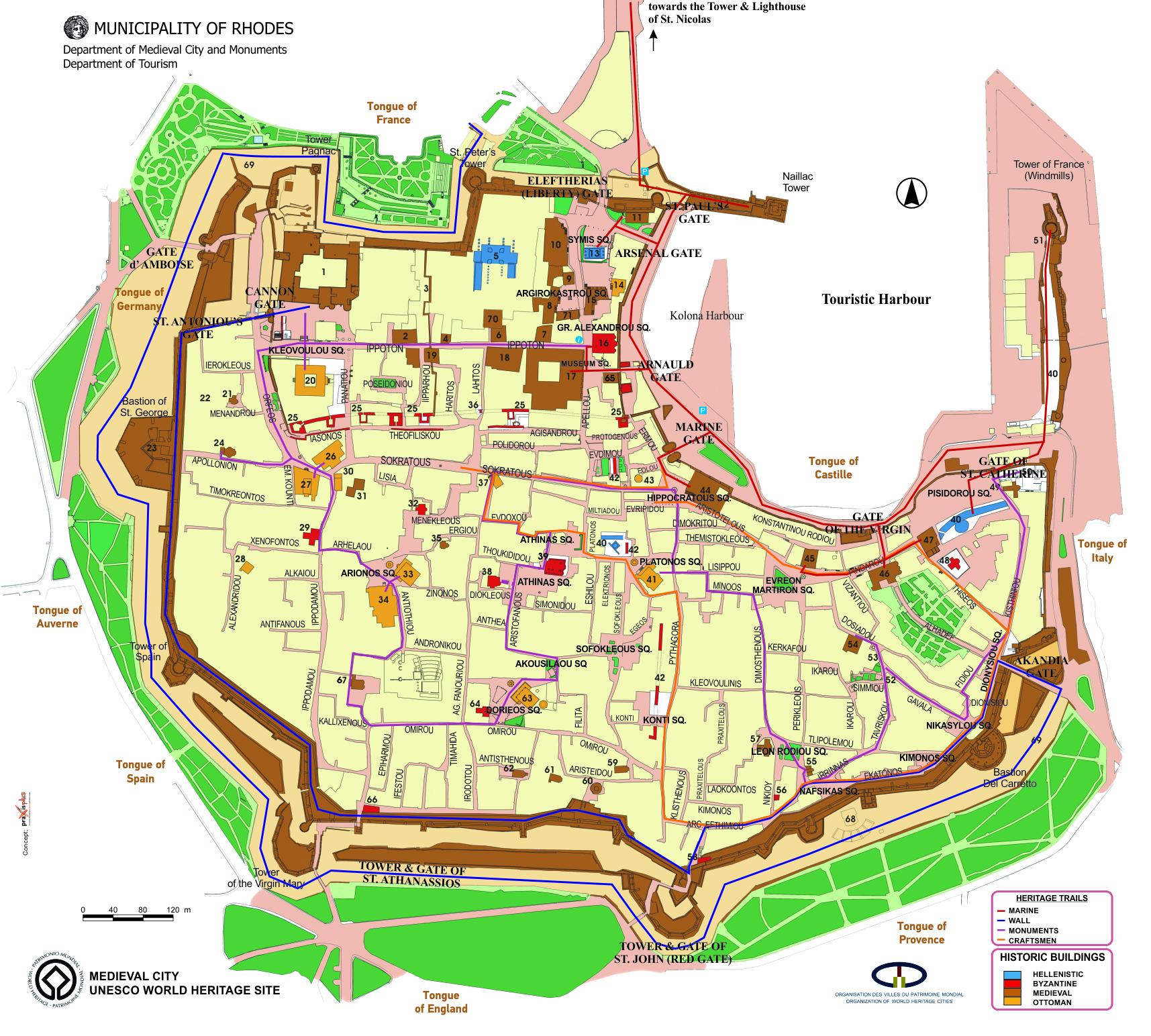 lindos karta Rhodes tourism info web sites lindos karta